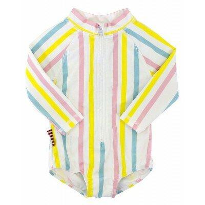 Sookibaby Multi Stripe Zip Rashie