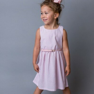 Love Henry Eleanor Dress - Pink Stripe