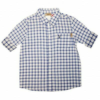 Love Henry Dress Shirt - Blue Check