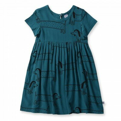 Little Horn Dachshund Woven Dress
