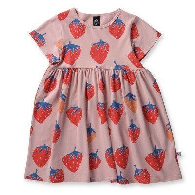Little Horn Strawberries Dress