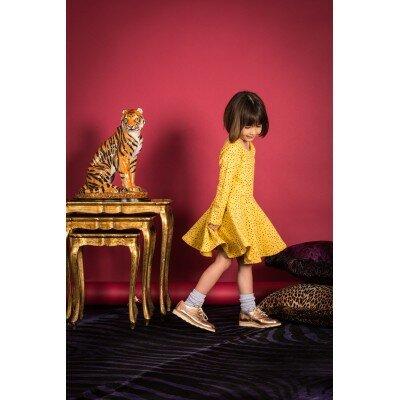 Hootkid Mustard Spot Cassandra Dress