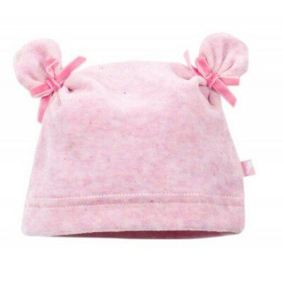 Fox and Finch Baby Aspen Velour Beanie - Pink Marle